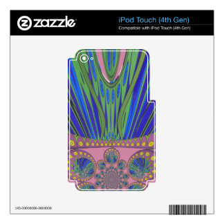 African decorative pattern modern design colors iPod touch 4G decals