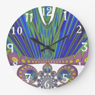 African decorative pattern modern design colors large clock