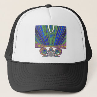 African decorative pattern modern design colors trucker hat