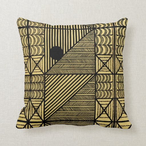 Should I Throw Away Old Pillows : African Design #12 @ Stylnic Throw Pillow Zazzle