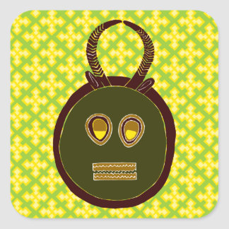 African Design #5 @ Stylnic Square Sticker