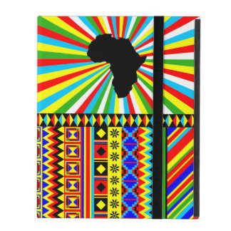 African Design Kente Cloth Tribal Pattern Red iPad Cases