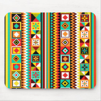 African Design Kente Cloth Tribal Pattern Summer Mouse Pad