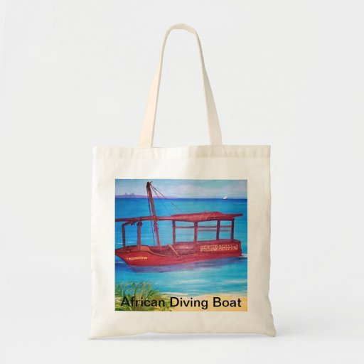 African Diving Boat Painting Bag
