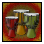 African Djembe Drum Poster
