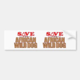 African Dog Save Bumper Sticker