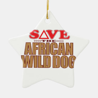 African Dog Save Ceramic Ornament