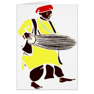 AFRICAN DRUM ITOTELE CARD