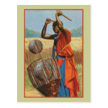 African drummer - soccer lovers gifts and apparel postcards