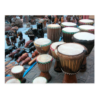 African drums 1 postcard