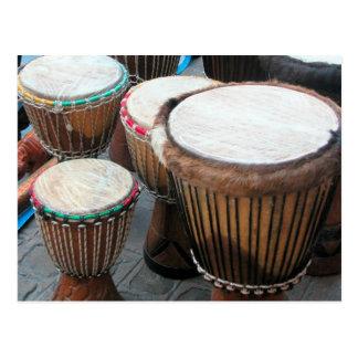 African drums 3 postcard