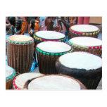 African drums 4 postcard