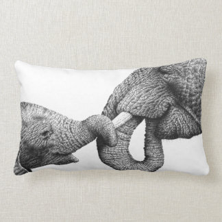African Elephant and Calf American MoJo Pillow