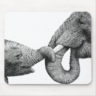 African Elephant and Calf Mousepad
