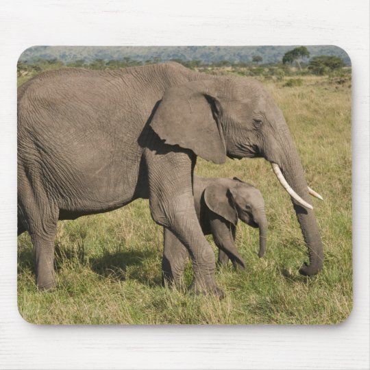 African Elephant and cub (Loxodonta africana), Mouse Pad
