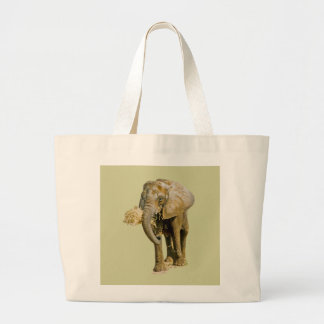 African Elephant Canvas Bags