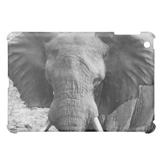 african elephant black and white ipad case