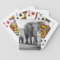 African Elephant & Calves | Kenya, Africa Playing Cards