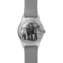 African Elephant & Calves | Kenya, Africa Wristwatch
