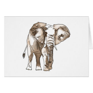 African Elephant Card
