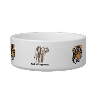 African Elephant Cat Food Bowls