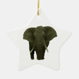 African Elephant Ceramic Ornament