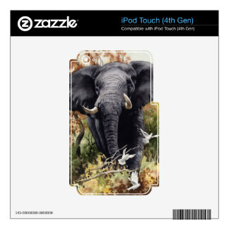 African Elephant Decal For iPod Touch 4G