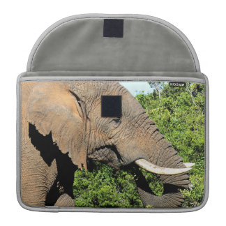 African Elephant eating Sleeve For MacBook Pro