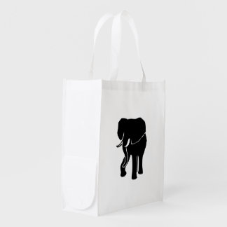 African Elephant Grocery Bag