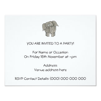 African Elephant. Personalized Invitation