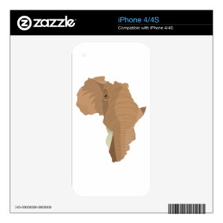 African Elephant iPhone 4S Skins