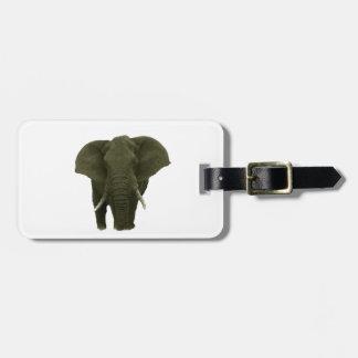 African Elephant Luggage Tag