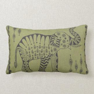 African Elephant Lumbar Pillow