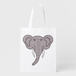 African Elephant Market Tote