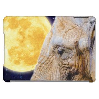 African Elephant & Moon Mystical Photo iPad Air Cases