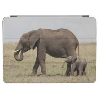 African Elephant mother with baby walking iPad Air Cover