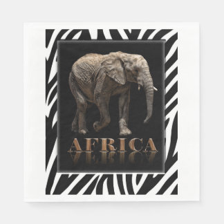 AFRICAN ELEPHANT PAPER NAPKIN