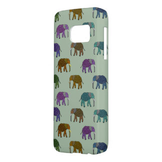 African Elephant Pattern Samsung Galaxy S7 Case
