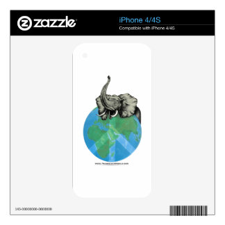 African Elephant Peace design iPhone 4 Decal