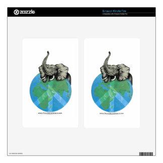 African Elephant Peace design Kindle Fire Skin