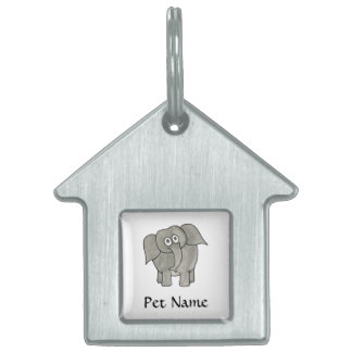 African Elephant. Pet Name Tag