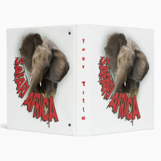African elephant photograph albums 3 ring binders