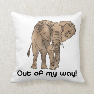 African Elephant Pillow