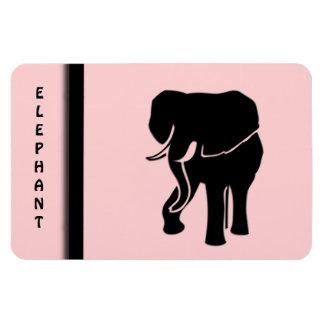 African Elephant Pink Rectangular Photo Magnet