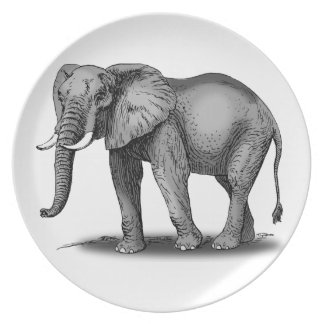 African Elephant Dinner Plate