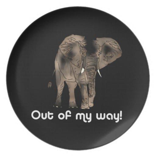 African Elephant Plates