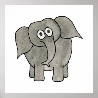African Elephant. Print