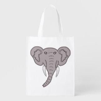 African Elephant Reusable Grocery Bag