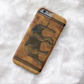 African Elephant & Rustic Background Barely There iPhone 6 Case
