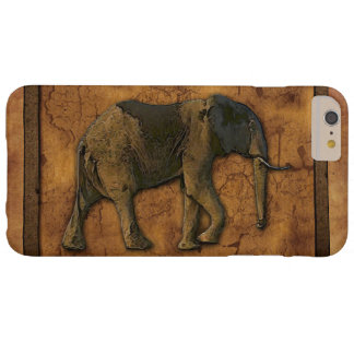 African Elephant & Rustic Background Barely There iPhone 6 Plus Case